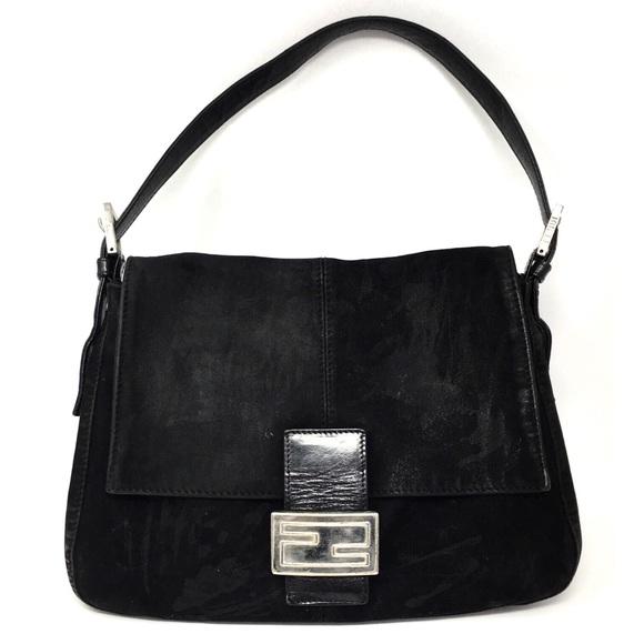 ad104da5c71c Fendi Handbags - Fendi Suede Mama Baguette